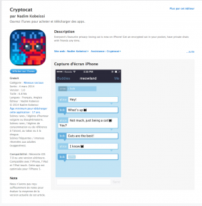 cryptocat apple store