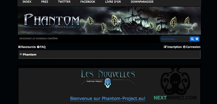 Capture d'écran de Phantom-Project successeur de Downparadise