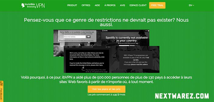 ibVPN test du vpn coupon