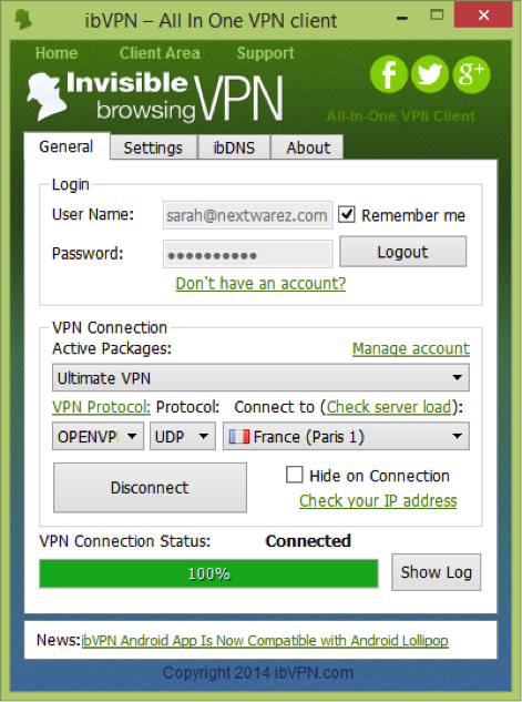 Logiciel windows ibvpn