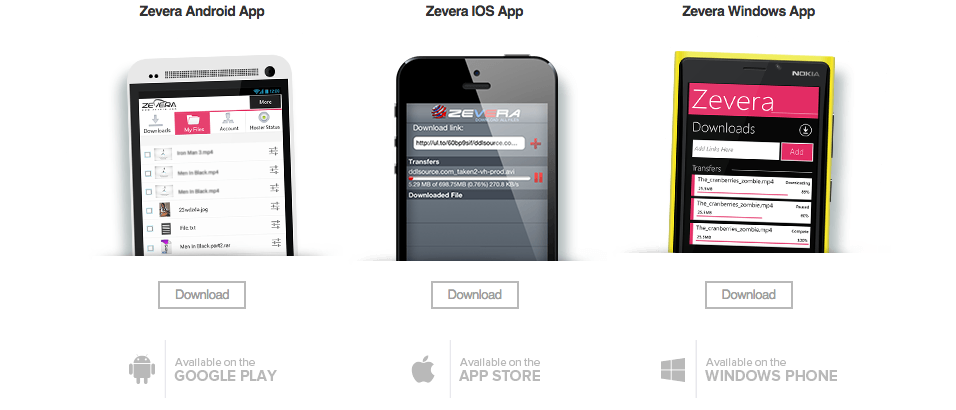 Zevera iphone