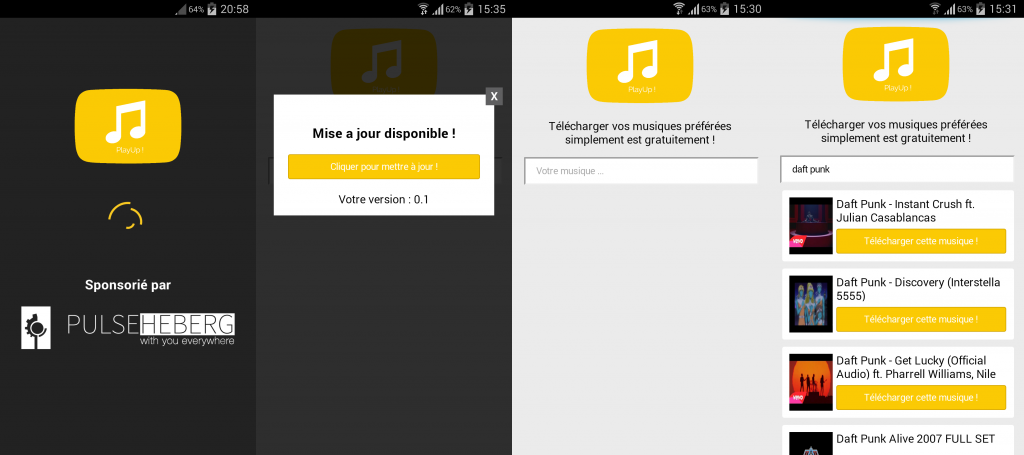Test de PlayUp! une application android
