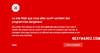 DPStream blocage par Google Chrome