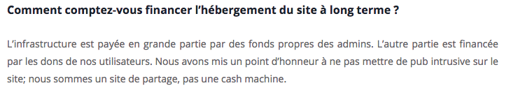 Extrait de l'interview d'YggTorrent