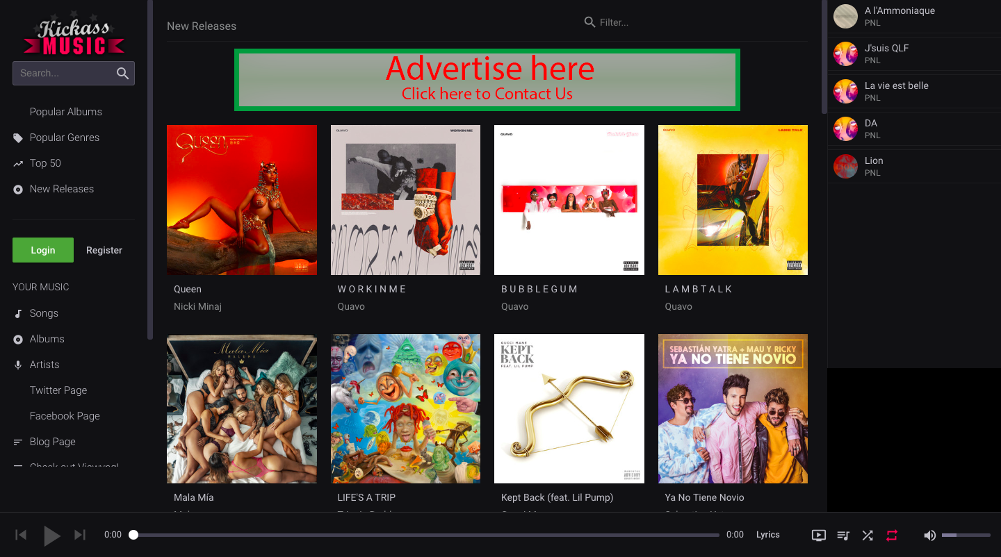 Kickass Music : une alternative gratuite à Spotify